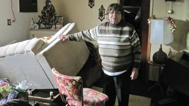 Thunder Bay resident Helen Grudics said she has filed insurance claims before for water damage to her home. As a result, the insurance company won't cover her loss from this flood.