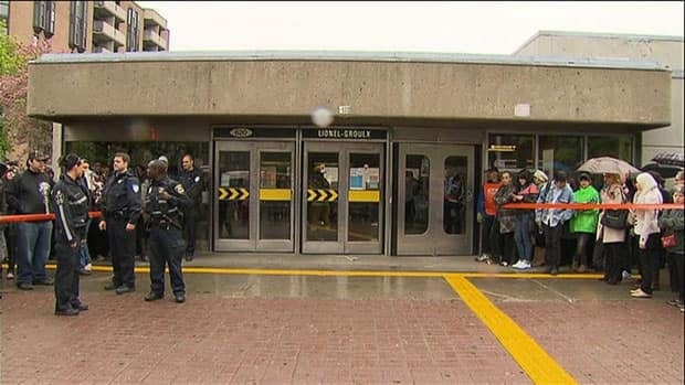 Lionel-Groulx, a major transit hub, was one of three stations targeted by smoke bombs Thursday morning.