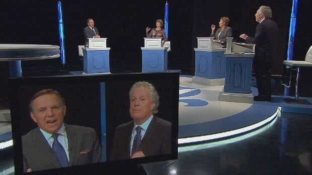 The leaders of Quebec's four leading parties faced off in their first televised debate of the campaign.