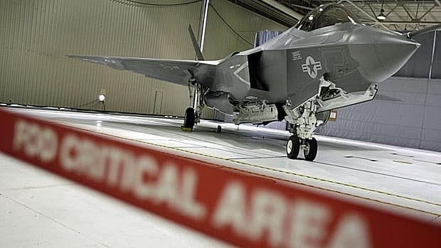 An F-35 Joint Strike Fighter on display at naval yard in Maryland in January. A critical area, indeed.