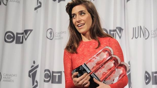 Feist poses at the most recent Juno Awards ceremony in Ottawa on April 1. The annual event, which recognizes Canada's top musical talent, is coming to Winnipeg in 2014.