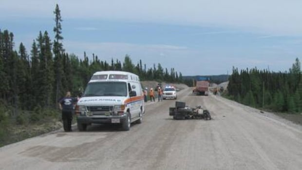 Police have not released the identity of the man who died in a motorcycle accident on the Trans-Labrador Highway on Monday.