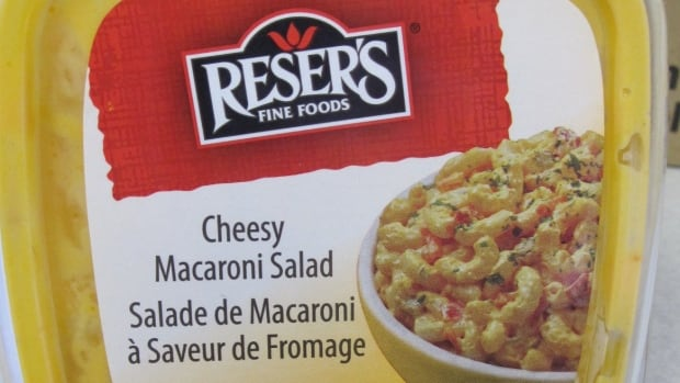 The 454 gram and 1.25 kilogram containers of Reser's brand Cheesy Macaroni Salad dated Oct. 20, 2013 with UPC codes 0 71117 18241 5 and 0 71117 61227 1, respectively, are being recalled.