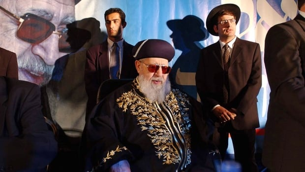 Rabbi Ovadia Yosef, shown in 2002, was often called the outstanding Sephardic rabbinical authority of the century.