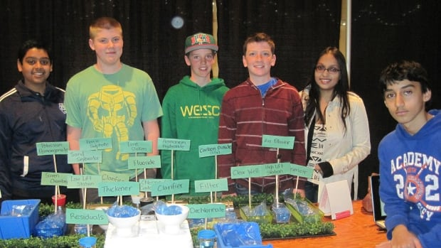 Grade eight students studied water issues.