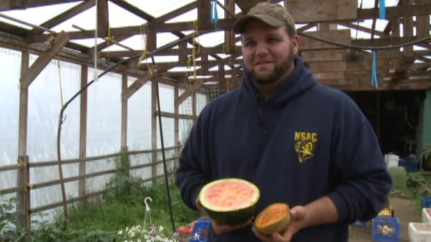 Farmer Chris Oram says his locally-grown cantaloupe was a big hit at Mark's Market in Wooddale.