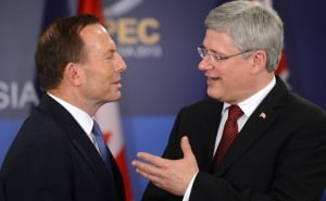 Harper and Abbot at APEC