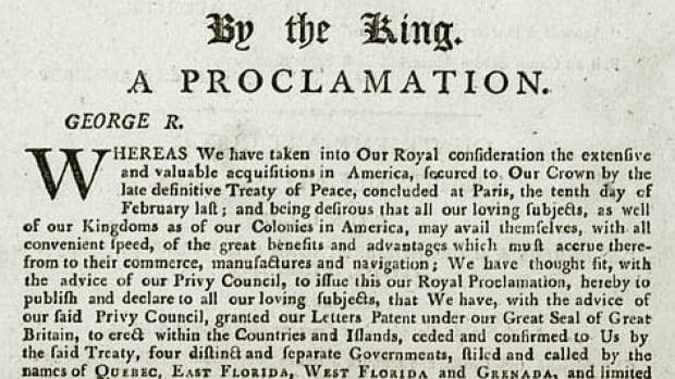 Ceremonies in London, England, on Monday marked the 250th anniversary of the Royal Proclamation of 1763.