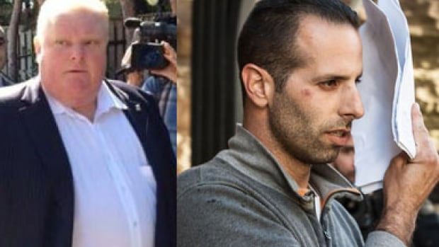 "Toronto Mayor Rob Ford, left, has described his friend and occasional driver Alessandro (Sandro) Lisi as a ""good guy."""