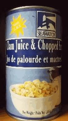 Stolen Sea Watch canned clams