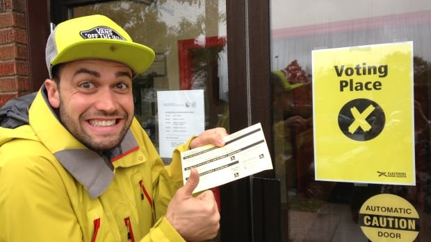 Marc Saucier was excited about voting in the Nova Scotia election.