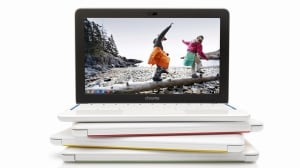 The new HP Chromebook 11 has a plastic frame with no sharp edges or corners, or even screw holes.