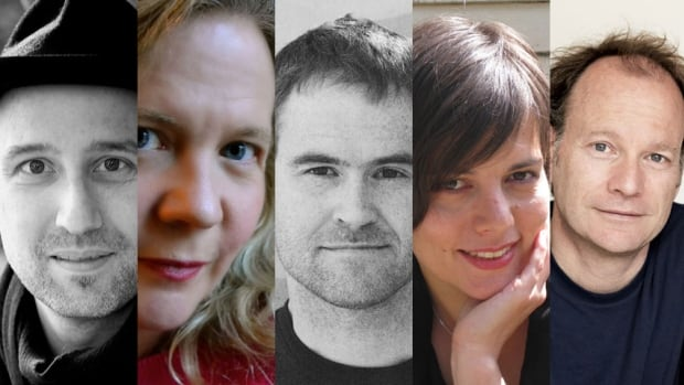The five authors shortlisted for the 2013 Giller Prize are (from left) Dan Vyleta, Lisa Moore, Craig Davidson, Lynn Coady and Dennis Bock.