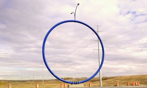 """Travelling Light"" public art piece"