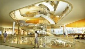 Inside the new CSEC building (artist's rendering)