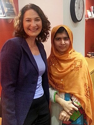 Anna Maria Tremonti and Malala Yousafzai