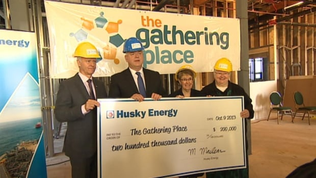 On Wednesday, Husky Energy presented a cheque for $200,000 to the Gathering Place in St. John's.
