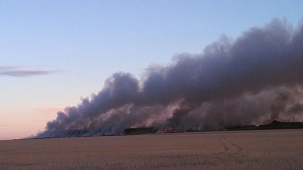 Smoke has been pouring out of the landfill at Kindersley.