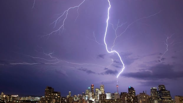 Lightning strikes the CN Tower an average of 75 times a year. But the energy from those strikes is still only about enough to power a 100-watt light bulb continuously through the year, says lightning physicist Joseph Dwyer.