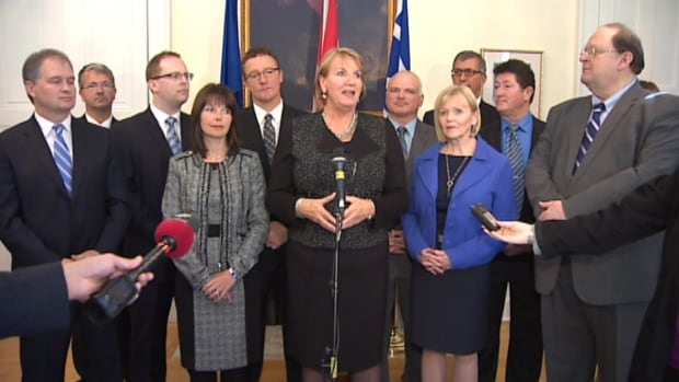 Kathy Dunderdale announced her new cabinet on Wednesday at Government House in St. John's.