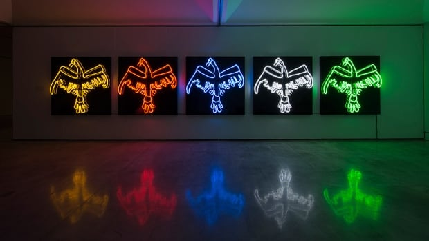 Tautology (2011-2013) is a neon artwork by Duane Linklater, a Cree artist from Northern Ontario. Linklater is the latest winner of the $50,000 Sobey Art Award.