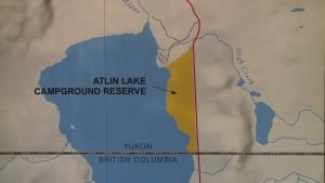 Atlin lake map