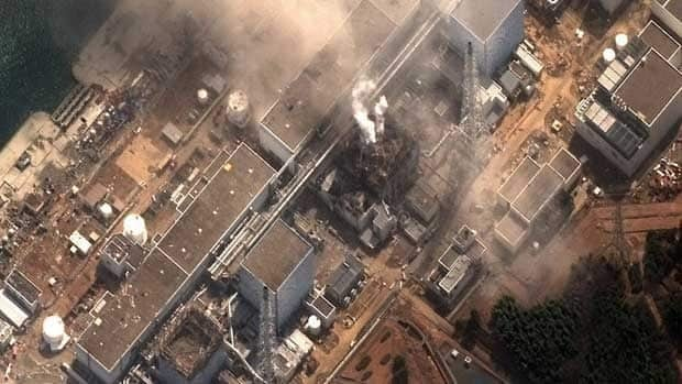 A satellite image shows damage to the Fukushima Daiichi nuclear reactor in Japan shortly after March 11's earthquake and tsunami. Massive amounts of radiation spewed into in the surrounding area, forcing tens of thousands to flee.