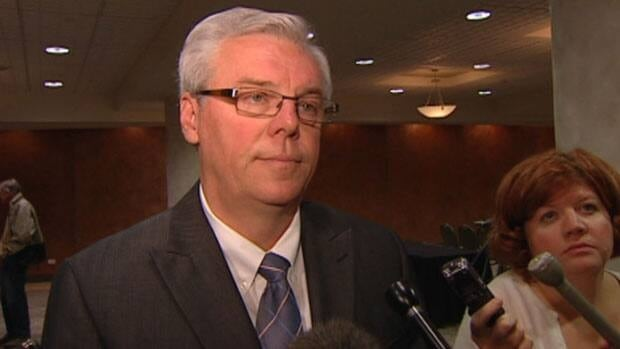 NDP leader Greg Selinger used a campaign stop to once again accuse the Tories of having a secret plan to privatize Manitoba Hydro.