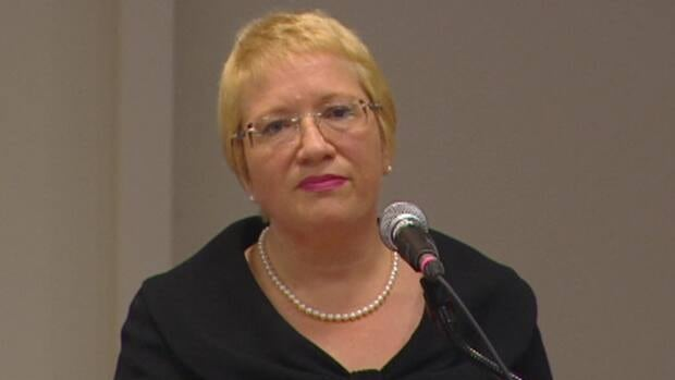 Yvonne Jones announcing her resignation as Liberal Party leader on Tuesday, Aug 9.