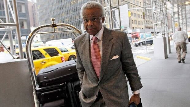 Executive director of the NBA players association, Billy Hunter, arrives for labor Tuesday in New York.