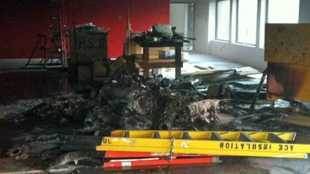 Building materials were set on fire in the Sturgeon Heights Community Centre on Aug. 10.