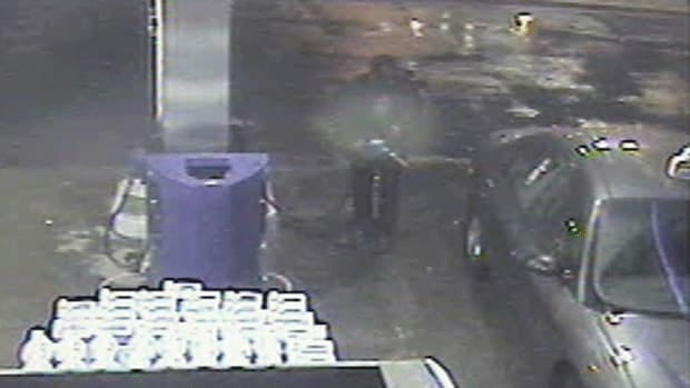 This gas station surveillance footage of a suspect believed to be using Nehar-Belaid's car led to the arrest of Nigel Rudolph John in 2009.