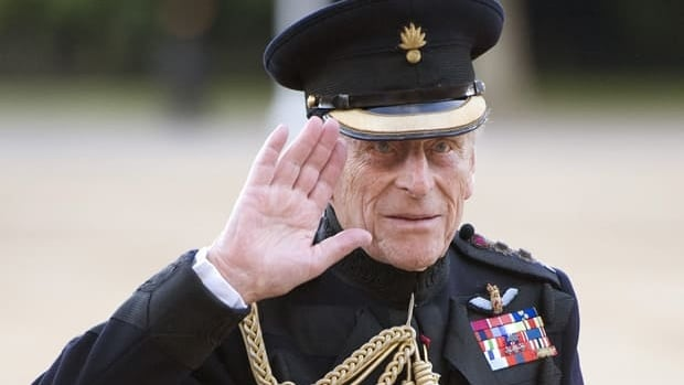 Prince Philip arrives on the eve of his 90th birthday to take the salute of the Household Division Beating Retreat on Horse Guards Parade in London.