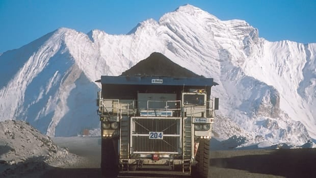 A truck hauls a load at Teck Resources' Coal Mountain operation near Sparwood, B.C., in a handout photo.