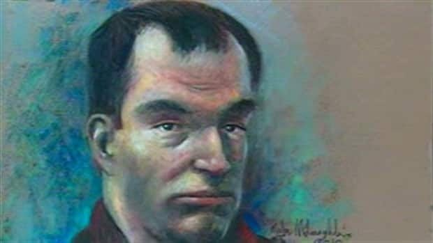 A court sketch of Guy Turcotte, who was found not criminally responsible in the stabbing deaths of his two children.