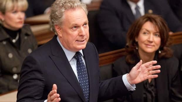Premier Jean Charest relaunched Quebec's legislature with an hour-long speech.