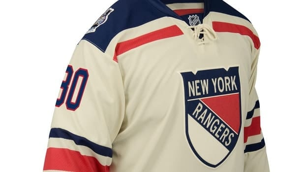 The New York Rangers unveiled their Winter Classic jersey on Monday.