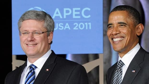 Prime Minister Stephen Harper and U.S. President Barack Obama entered into bilateral talks Sunday in Hawaii during the Asian-Pacific Economic Cooperation summit. Harper said he was 'disappointed' by the U.S. decision to delay the controversial Keystone XL pipeline project.