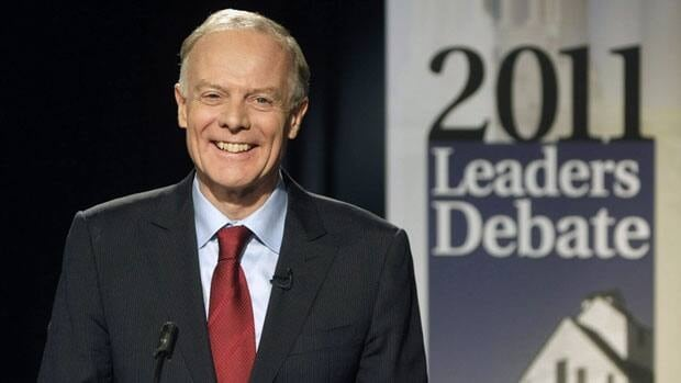 Manitoba Liberal Leader Jon Gerrard at the televised leaders' debate on Sept. 23. Gerrard announced on Thursday that he will not seek another term as party leader.