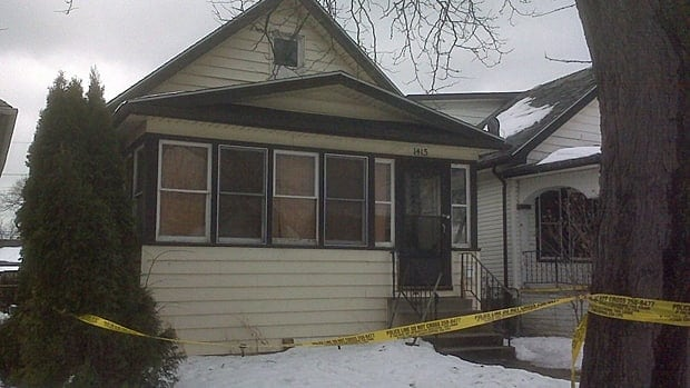 Windsor, Ont., police discovered human remains under a rear porch on Lincoln Road on Sunday night.