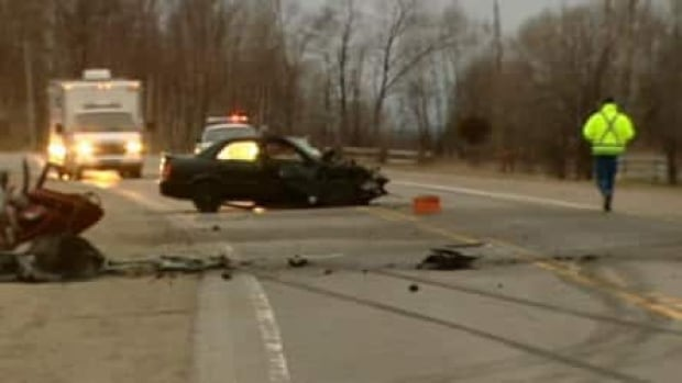 Quebec police say alcohol and excessive speed were factors in a head-on collision that killed two men on Saturday.
