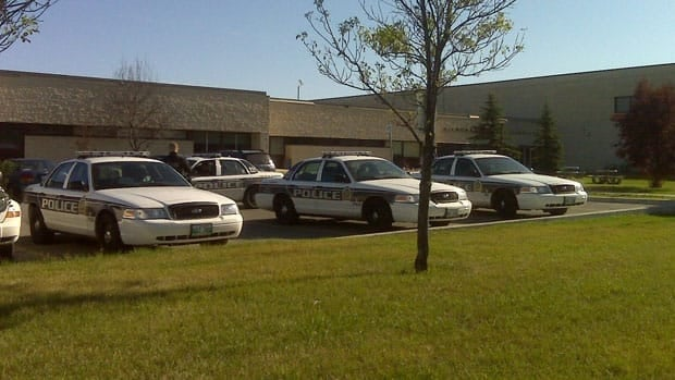 A strong police presence was at Kildonan-East Collegiate on Thursday after a man was reported to be seen near there, possibly armed with a gun.