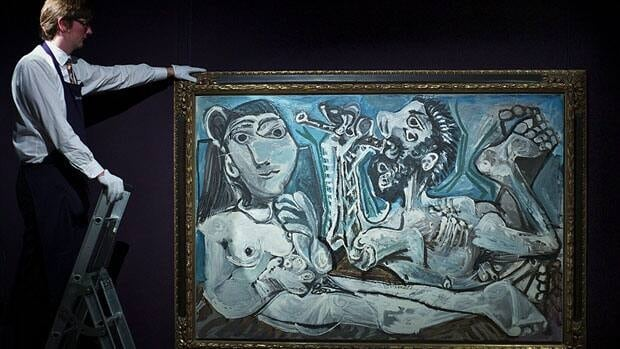 Pablo Picasso's L'Aubade, from 1967, sold for $23 million at Wednesday night's Sotheby's auction in New York.
