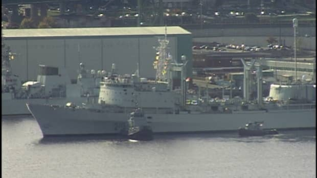 HMCS Preserver ran into the dock after undergoing a $44-million refit.