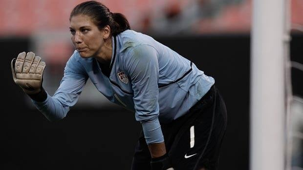 Like she was four years ago, Hope Solo will be in net against the Brazilians on Sunday.