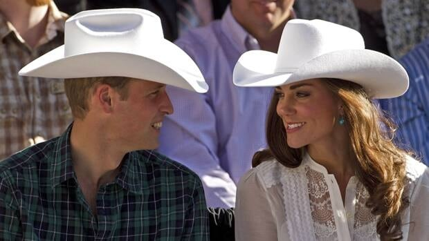 Prince William and Kate, the Duke and Duchess of Cambridge, watch the Calgary Stampede parade on July 8, 2011. Tourism Calgary estimates the three-day royal tour generated $2.3 million for the local economy.