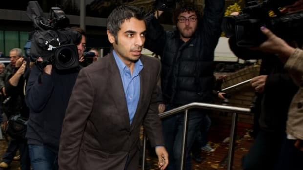 Former Pakistan cricket captain Salman Butt arrives for sentencing Thursday at Southwark Crown Court in London, England.