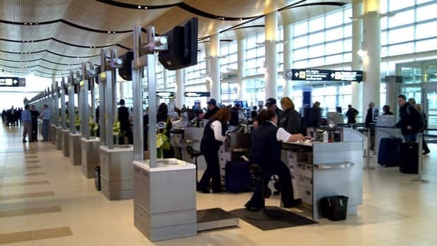 Check-in kiosks and counters inside the new terminal building at Winnipeg James Armstrong Richardson International Airport. First Air is changing its check-in cutoffs at the airports in Ottawa, Montreal, Winnipeg and Edmonton to 45 minutes from 30 effective Sept. 1.
