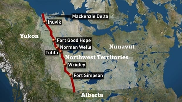If built, the Mackenzie Valley natural gas pipeline would run 1,200 kilometres from anchor fields in the Beaufort Sea, through the N.W.T.'s Mackenzie River Valley to a hub in northern Alberta, where it would connect with existing networks.