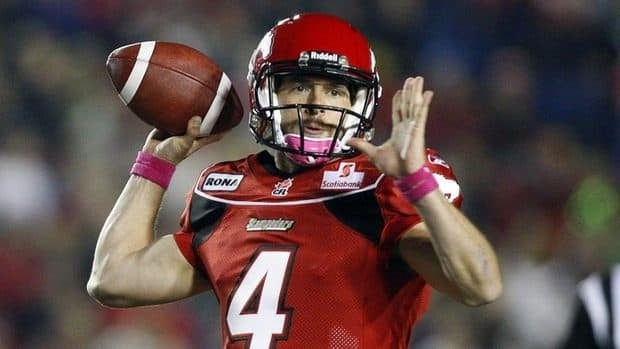 Calgary Stampeders qurterback Drew Tate threw for 251 yards and one touchdown in his first career CFL start on Friday night.
